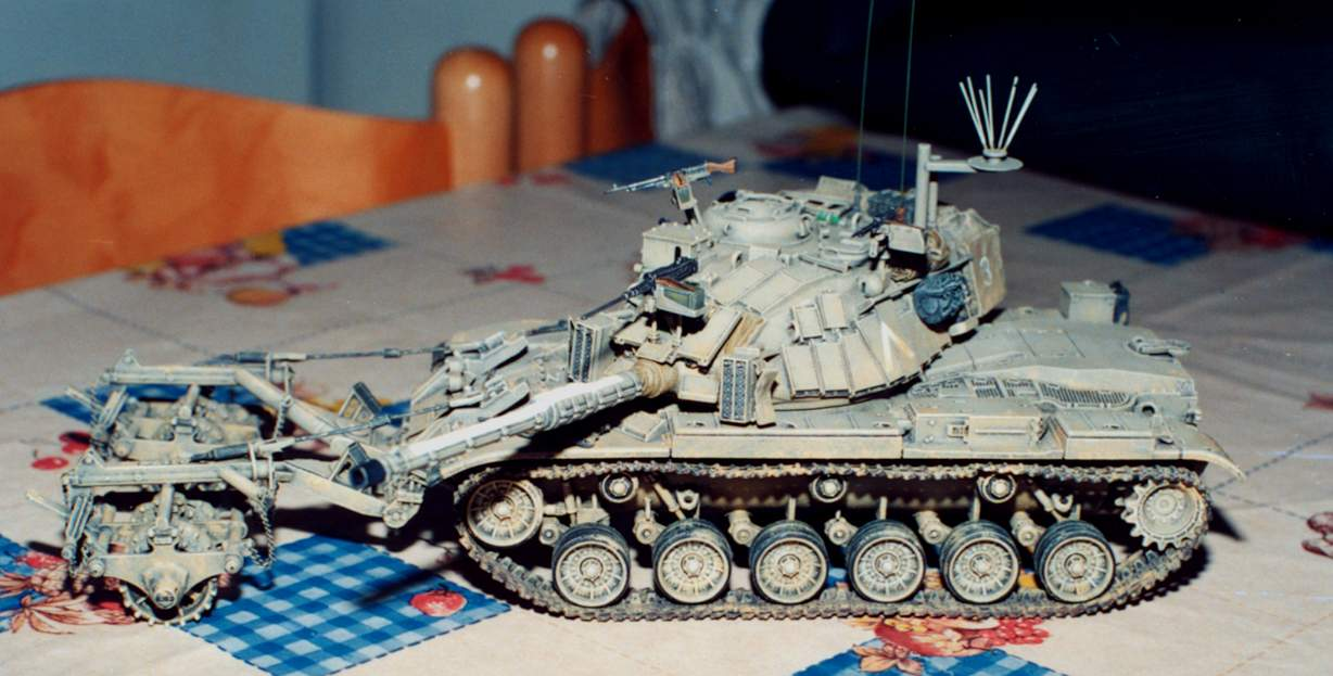 Magach 6-B with Mine Plow